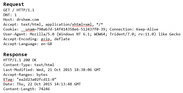 Figure 1: HTTP Request - Well Configured Proxy