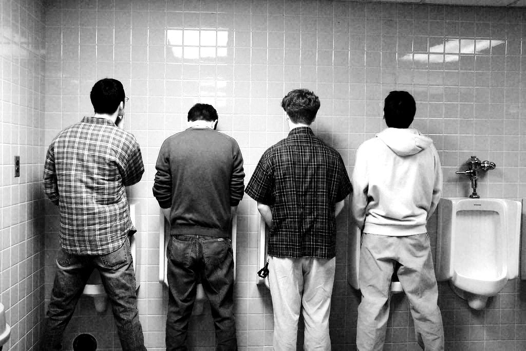Peeing on the bathroom floor 2